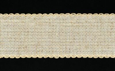 Zweigart 1 Metre Hessian Aida Band 3cm/11/4 Inch With a Scalloped Edging