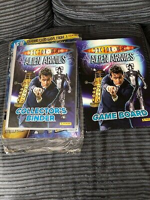 Dr Who Alien Armies Trading Card Full Set In Album