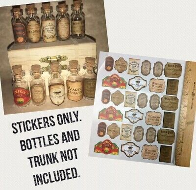 "1.25""STICKER POTION LABELS Apothecary Harry Potter DIY Party Prop Wedding Favor"