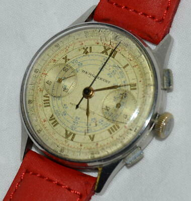 931f523d0c7612 ANTICO OROLOGIO POLSO Henglebert Chronograph ANNI 40 OLD CHRONO WATCH montre
