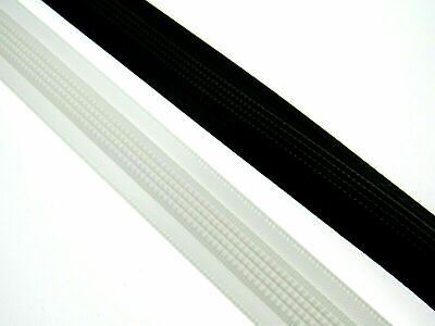 15mm Satin Covered Polyester Boning by Nortexx, Black or White 25 Meters