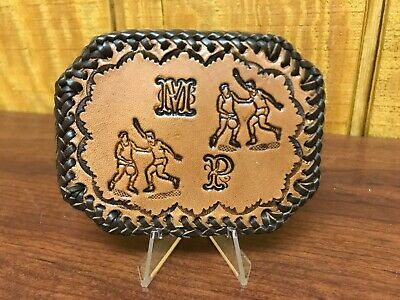 Vintage MP M P Basketball Leather Belt Buckle