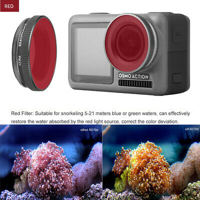 For DJI OSMO Action Sport Camera Lens Diving Filter Underwater Shooting Red