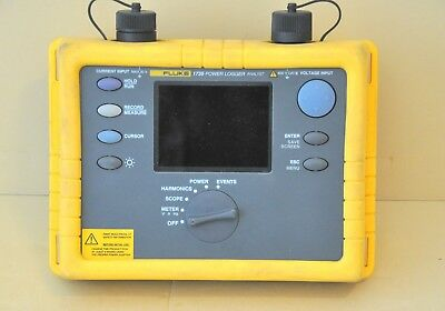 Fluke 1735 Three 3 Phase Power Energy Quality Logger Analyzer 10.24 kHz Kit