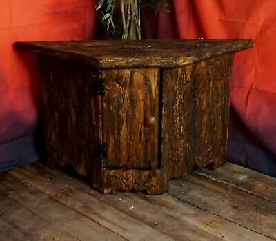 Handmade Solid Wood Olde Worlde Vintage Antique Style Cupboard Cabinet TV Stand