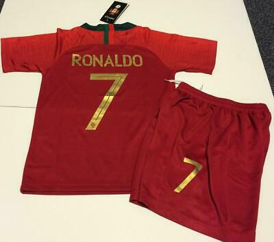 2a21a177c03 Portugal Home Ronaldo kids Soccer Jersey Youth Boys Set Child Shirt Small  8-9 yr