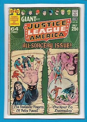 Justice League Of America #85_December 1970_Fine+_Bronge Age Dc Giant G-77!