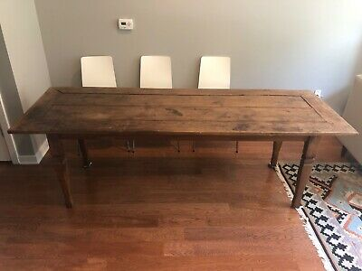 Antique Vintage Dining Table Solid Reclaimed Wood Table