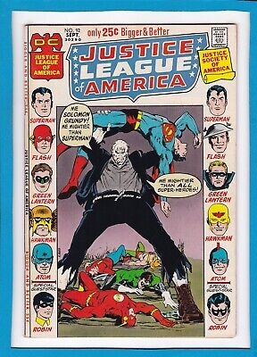 Justice League Of America #92_September 1971_Vf_Solomon Grundy_Bronze Dc Giant!