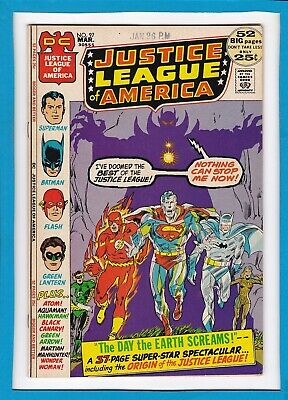 JUSTICE LEAGUE OF AMERICA #97_MARCH 1972_VERY FINE_BRONZE AGE DC 52 Pg GIANT!