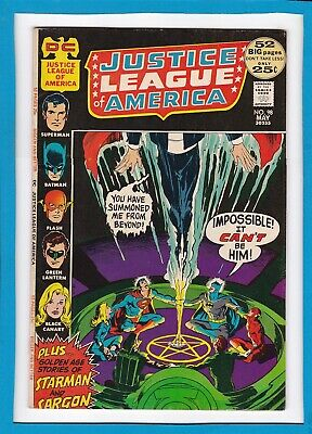 JUSTICE LEAGUE OF AMERICA #98_MAY 1972_FINE+_BRONZE AGE DC 52 Pg GIANT!