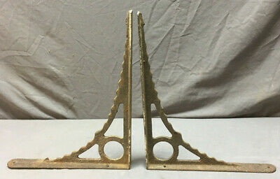 Pair Antique Cast Iron bathroom Sink Shelf Brackets Decorative Old Vtg 238-19L