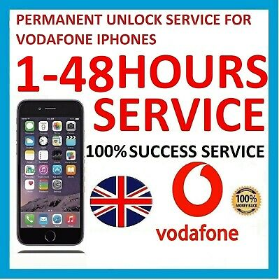 Express Unlock Code Service For Vodafone UK iPhone 6 5S 5C 5 4S 4