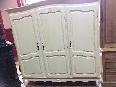 French painted triple armoire