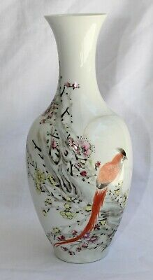 Antique Chinese Porcelain Vase with bird & flowers design