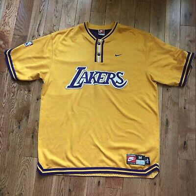 10d87c03003 Vintage Nike Authentic Los Angeles Lakers Warm Up Shooting Shirt Jersey M