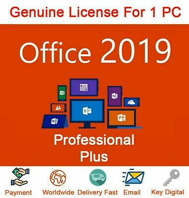 MS Office 2019 Professional Plus Genuine Product Key&Download Link INSTANT