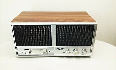 Vtg AI Rhapsody RY-837 cassette player tabletop wood grain cabinet radio tested