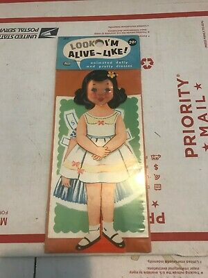 Vintage Look I'm Alive-Like Animated dolly and pretty dresses  unopened