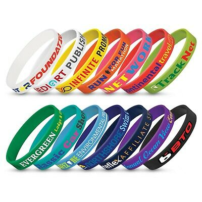 500 x Silicone Wrist Band - Indent Bulk Gifts Promotion Business Merchandise
