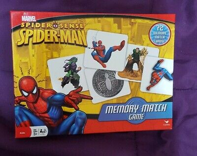 New Memory Match Game SPIDER-MAN Homecoming 72 Cards Educational Learning S2-L