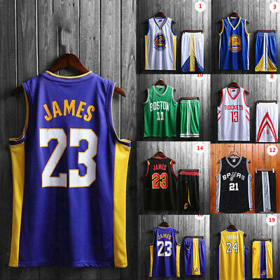 the latest e4678 28d4c MEN'S LEBRON JAMES 23 Basketball Jersey Throwback Swingman L.A. Lakers L-5XL