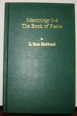 SCIENTOLOGY 0-8 THE BOOK OF BASICS 1976 Hardcover wo DJ L Ron Hubbard