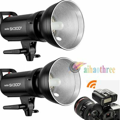 2Pcs Godox SK300II 300W 2.4G Wireless X System Flash Strobe Light + X1T Trigger