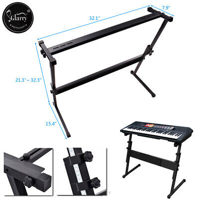 Glarry Electronic Piano Z Stand Music Keyboard Standard Portable Rack Adjustable