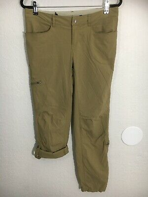 Patagonia Pants Roll Up Convertible Rock Climb Hike Nylon Women's Size 10 Beige