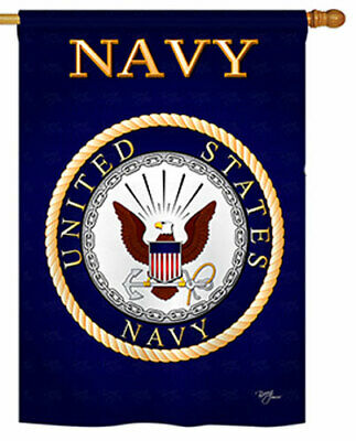 28 in. x 40 in. Navy Banner Flag, Double Sided Dye Sublimation