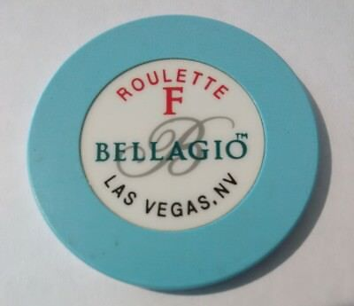 Bellagio Casino Las Vegas, Nevada Table F Roulette Chip Great For Collection!