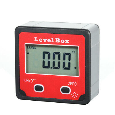 Digital Level Box Angle Gauge Inclinometer Protractor 4*90° Measuring Range P7J5