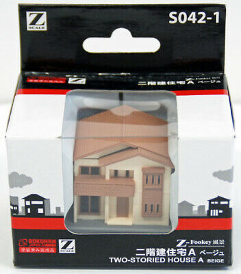 Rokuhan S042-1 Z Scale Two-Storied House A (Beige) (1/220 z scale)