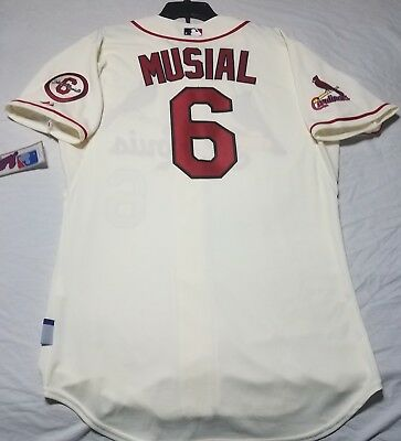 9babfd12 STAN MUSIAL ST. Louis Cardinals 40's Majestic Cooperstown Collection ...