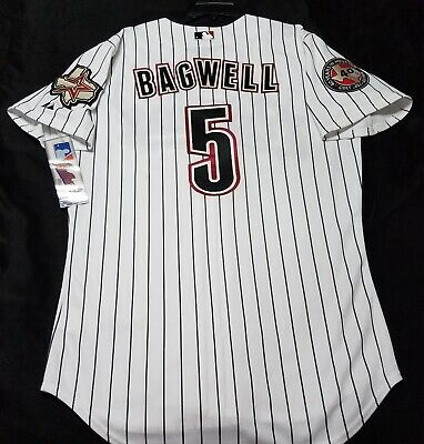 9f076522d Authentic MAJESTIC SIZE 48 XL, HOUSTON ASTROS, PINSTRIPE JEFF BAGWELL Jersey
