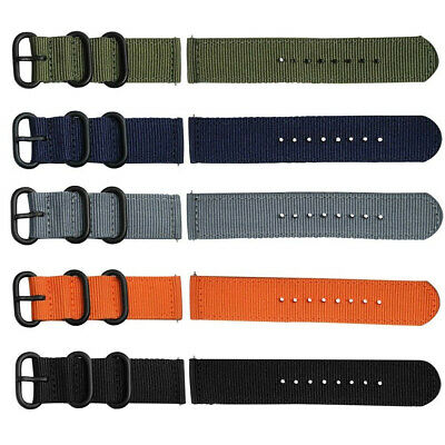 Quick Release Nylon Canvas Fabric Band Strap For Samsung Gear Sport S2 S3 Watch