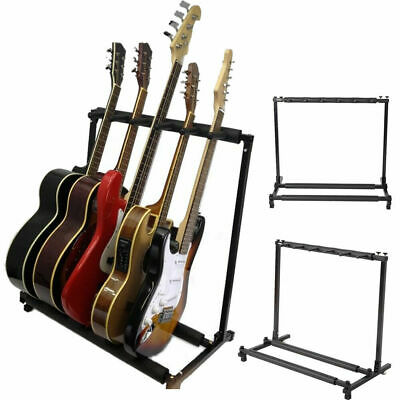 5 Way Multi Guitar Stand Foldable Acoustic Electric Electric Bass Guitar Rack