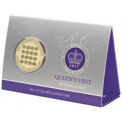 2011 QUEENS VISIT ROYAL COLLECTION Coin on Card Royal Australian Mint NEW