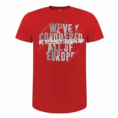 Liverpool FC Red Mens Football We are Never Gonna Stop T-Shirt LFC Official