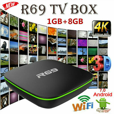 R69 Android 7.1 Smart TV Box 1GB+8GB Quad Core WIFI H.265 4K Video Media Players