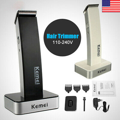Men Cordless Electric Rechargeable Hair Clipper Trimmer Beard Shaver Razor NT