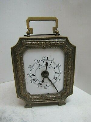 An Early Brass French or German Alarm Clock
