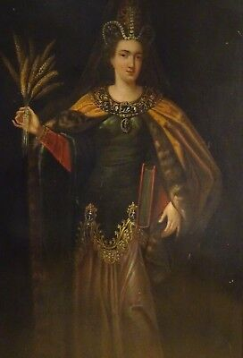 Huge 16th 17th Century Italian Old Master Ceres Goddess Portrait Roman Mythology