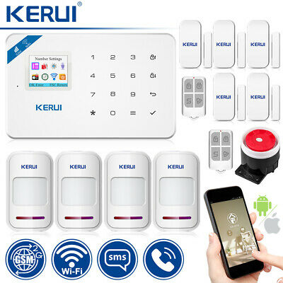 IOS/Android App Control KERUI W18 WIFI GSM Autodial Home Security Alarm System