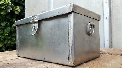 Very well made riveted stainless steel box cartridge storage case toolbox