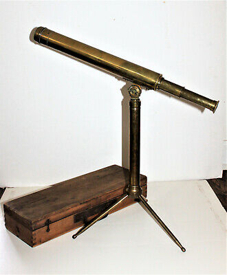 Antique Portable Table Telescope with Case possibly by Aitchison London