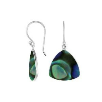 Argent Sterling Oreille avec Abalone Coquille AE-6245-AB