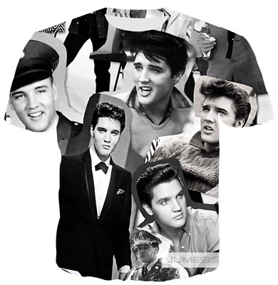 Elvis Presley Funny 3D print Casual T Shirt Fashion Men Women Short Sleeve Top