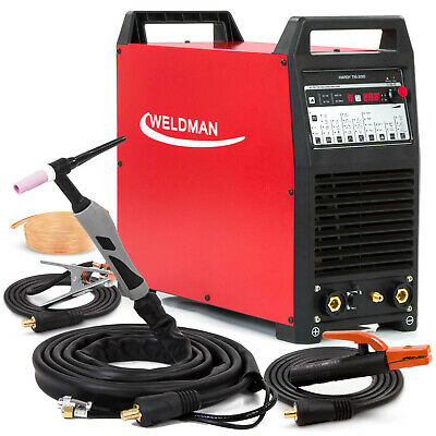 TIG Welder AC DC Welding machine Pulse Inverter Weldman Hardy TIG 200 AMP